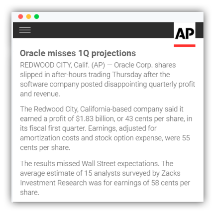 AP Earnings Recap Wordsmith NLG