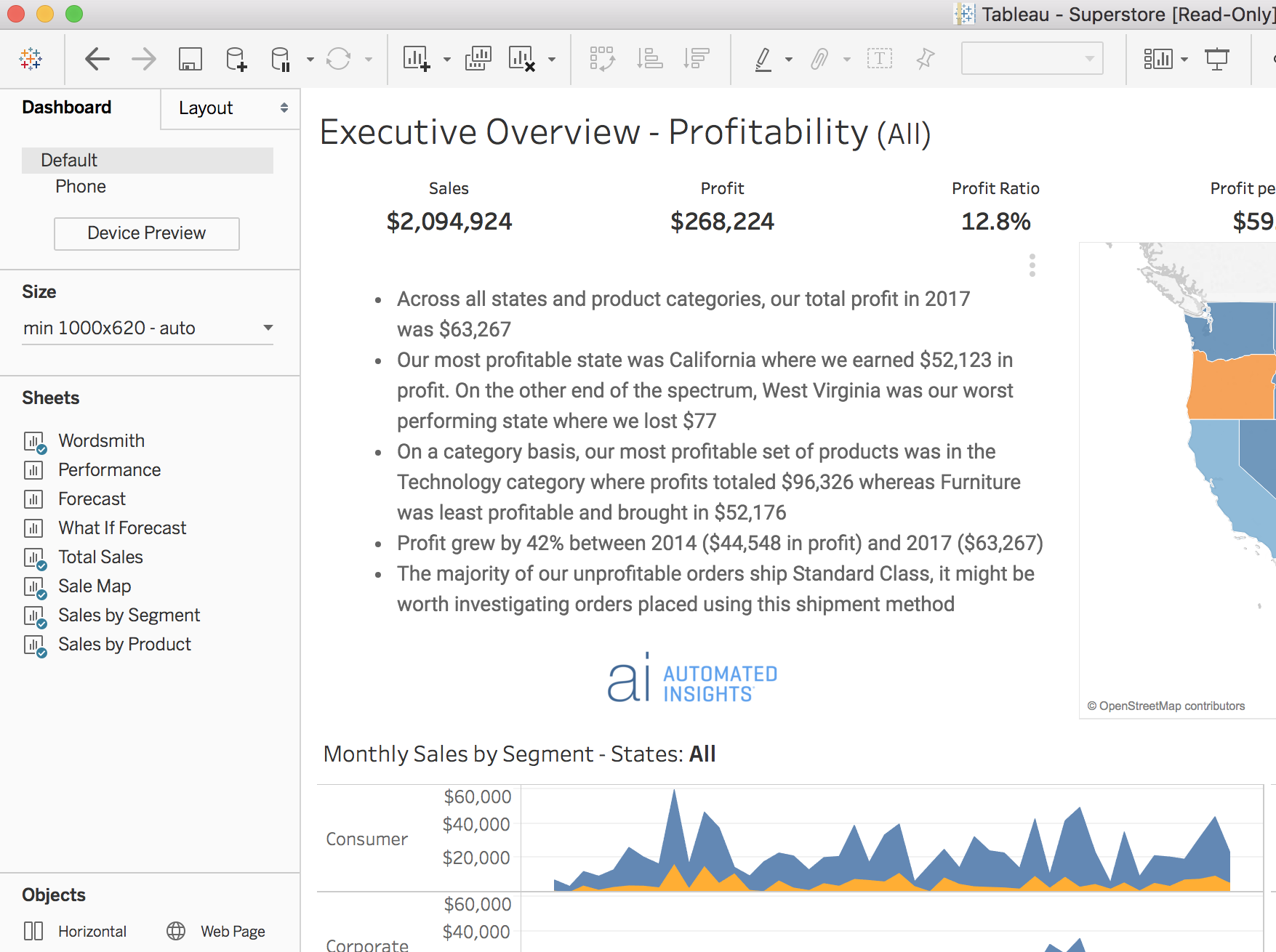 Wordsmith Extension for Tableau | Automated Insights